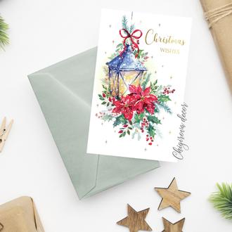 """Новогодняя открытка """"Фонарик"""""""