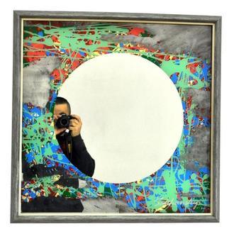 Дизайнерское зеркало картина Зелёный Горизонт Green Horizont 6182