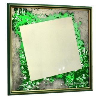 Дизайнерское зеркало картина Зелёный 57 градусов Green 57 degrees №6166