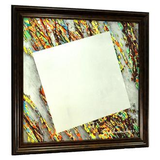 Дизайнерское зеркало картина Оранжевый 102 градусов Orange 102 Degrees №6149