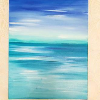 """Картина на полотні """"Океан і небо""""(олія)50/40см"""