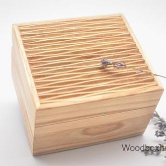 Деревянная шкатулка для украшений, ювелирная шкатулка