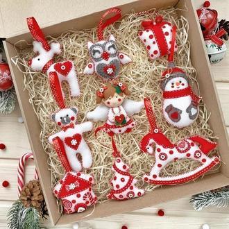 Набор елочных игрушек /Корпоративный новогодний набор елочных украшений!