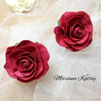 Троянди з фоамірану, рози на резинці, квіти з фоамірану