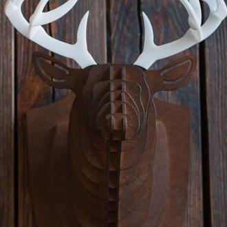 Голова Оленя, декор стен, рога оленя,   3d скульптура, настенное украшение
