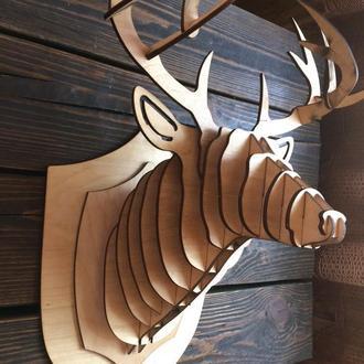 Голова Оленя, декор стен,  настенное украшение