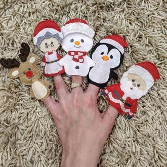 Набор пальчиковых игрушек «Санта»