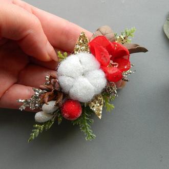 Повязочка для девочки Новогодняя