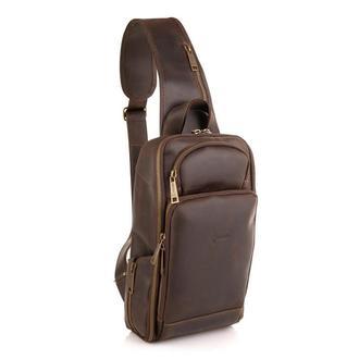 Кожаный рюкзак на одно плечо, рюкзак-слинг TARWA RC-0910-4lx  Источник: https://7bags.com.ua/kozhany