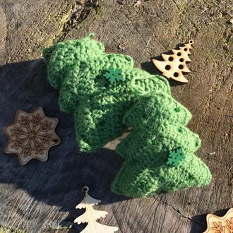 Новогодний декор вязаная елочка новогодняя игрушка