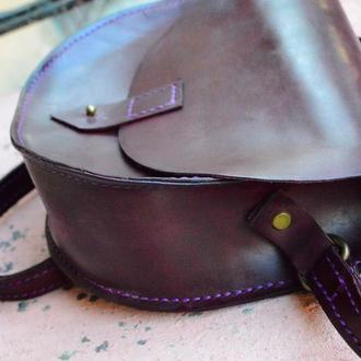Кожаная сумка HalfRound Фиолетовый