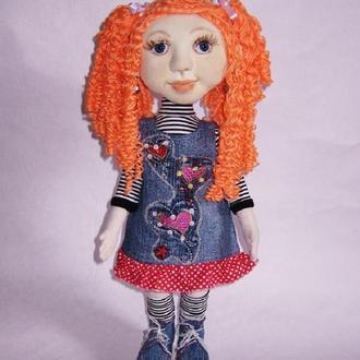 Текстильная кукла для девочки, кукла мягкая скульптура, игровая кукла, подарок для девочки