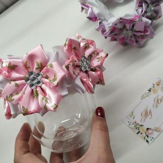 повязка на гульку розовая