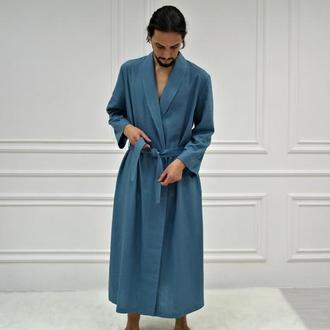 Чоловічий халат з натурального льону