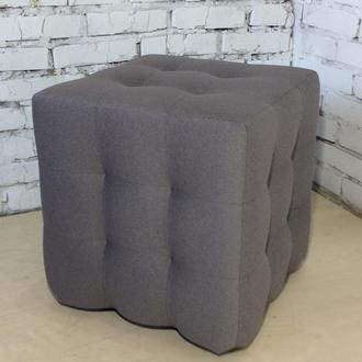 Пуф квадратный Куб 45х45 см серый Milos 84
