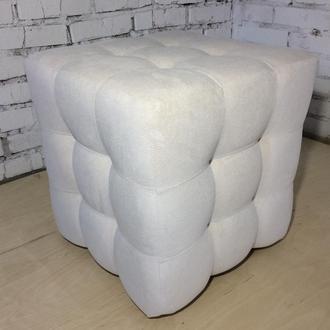 Пуф квадратный Куб 45х45 см молочный Gordon 21