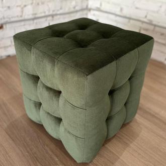 Пуф квадратный Куб 45х45 см зеленый хаки Misoni 18