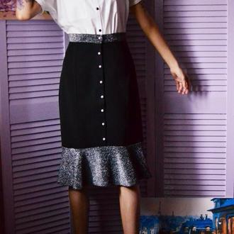 Стильная теплая юбка