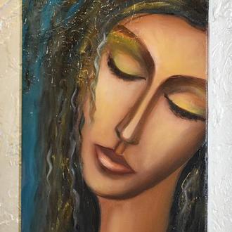 Интерьерная картина, Живопись на холсте(подрамник),размер 20х40см