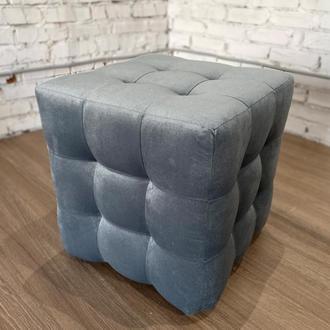 Пуф квадратный Куб 45х45 см серый Misoni 30
