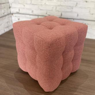 Пуф квадратный Куб 45х45 см розовый Grande 55