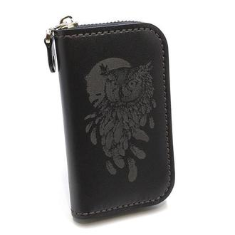 Кожаная ключница Z6-K-BG-Owl