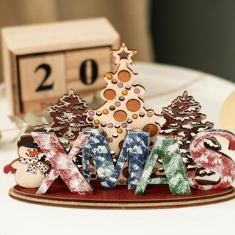 Рождественский настольный декор для вашего дома