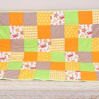 Лоскутное покрывало (одеяло) на детскую (подростковую) кровать пэчворк