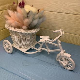 """Букет из сухоцветов """"Велосипед с цветами"""""""