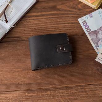 Кожаный кошелек на одну кнопку KING