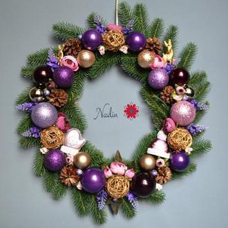"""Новогодний венок  """"Рождественский вечер"""""""