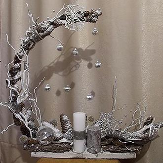 Интерьерная композиция Хрустальная зима