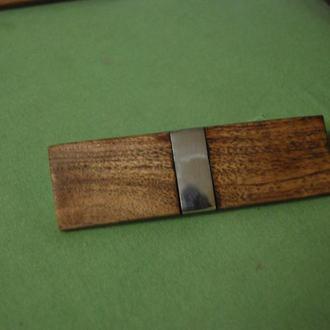 заколка деревянная в стиле лофт