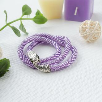 Жгут-трансформер рука/шея нежно-фиолетовый, застёжка-змея