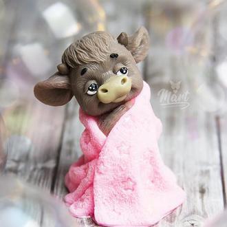 """Мыло """"бычок Яшка в одеяле"""""""