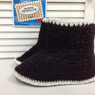 Женские носки-тапочки, ручная работа