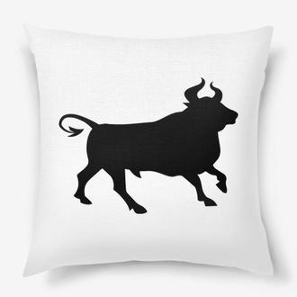 Новорічна подушка з символом року Київ, подушка бик Київ, корпоративні подарунки, подушка олень
