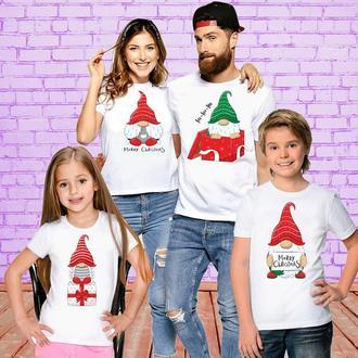"ФП006396Футболки Push IT Фэмили Лук Family Look для всей семьи ""Гномики: Новый Год"""