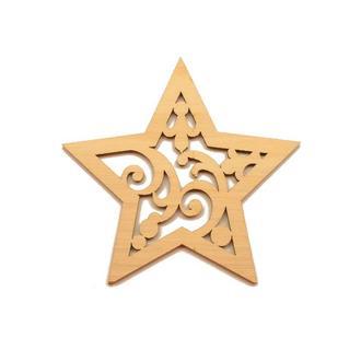 """Деревянная Новогодняя Елочная Игрушка """"Звезда"""" 9 см Украшение на Ёлку из Фанеры"""
