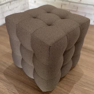Пуф квадратный Куб 45х45 см коричневый Milos 20