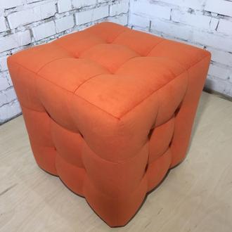 Пуф квадратний Куб 45х45 см помаранчевий Trinity 17