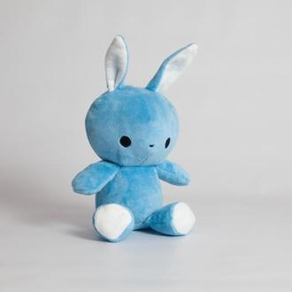 """Мягкая игрушка,""""Зайка Флип-Флоп"""", голубой."""