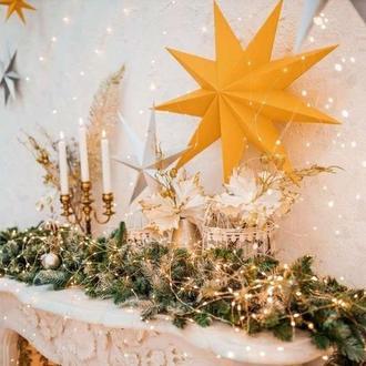 Об'ємні різдвяні зірки