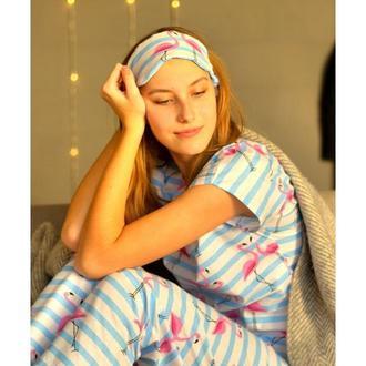 Пижама Хлопок, маска для сна