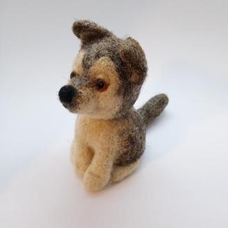 Щенок хаски  Валяный щенок  В одном экземпляре - ПЕРЕД заказом уточнить наличие