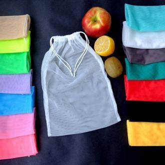 Эко мешок белый, еко мешочки для покупок, эко пакет, сеточка, фруктовка, мішечки zero weste