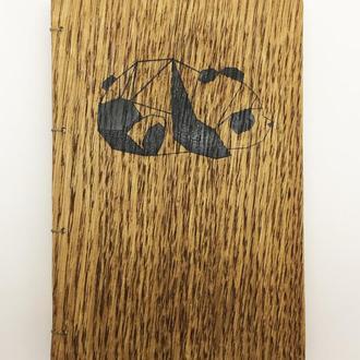 Записник, блокнот з дерев'яною обкладинкою А-6