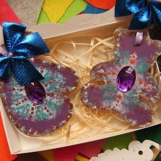 Дерев'яна Еко новорічні ялинкові іграшки і декор