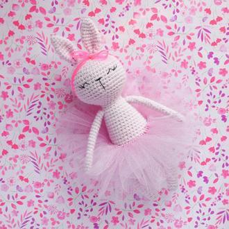 Милейшая зайка - балерина. Подарок девочке. Подарок новорожденной.