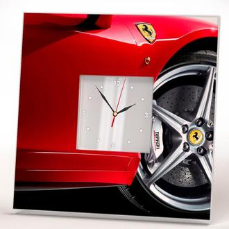 "Фото часы с спорткаром ""Ferrari. Феррари"""